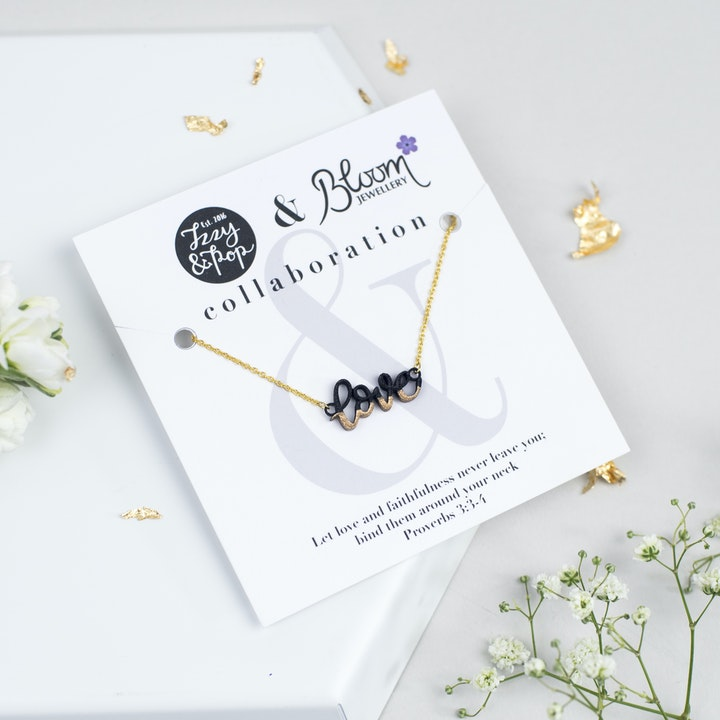 Love Gold-Dipped Necklace - Gold-Plated - Izzy and Pop - Bloom Jewellery