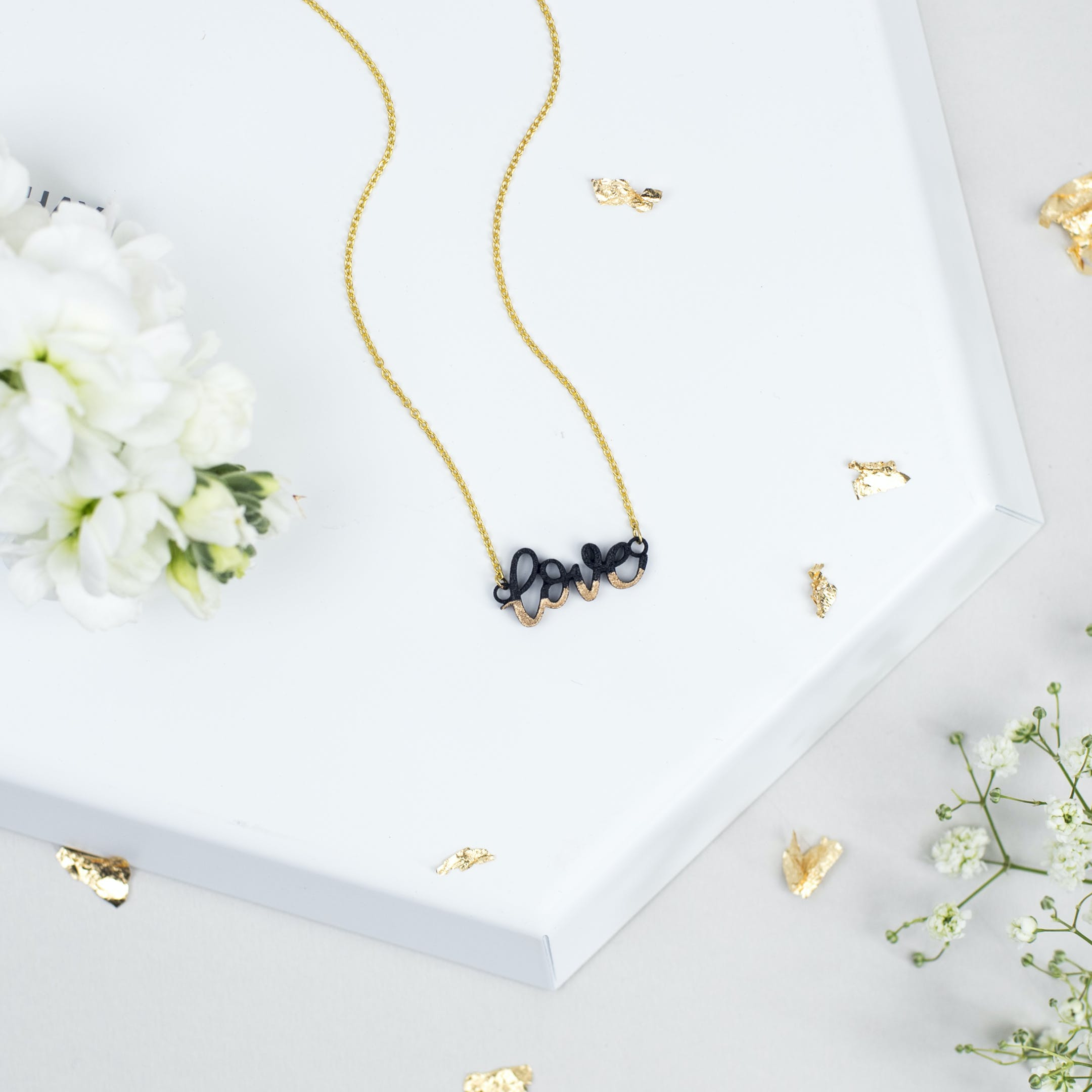 Love Gold-Dipped Necklace - Gold-plated - Bloom Jewellery - Izzy and Pop