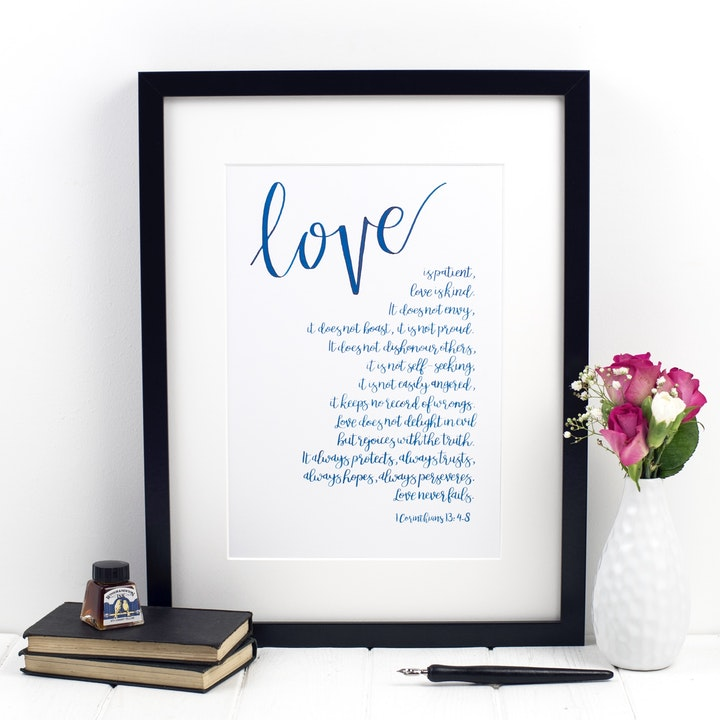 Love Is Patient Print 2 - 1 Corinthians 13:4-8 - Izzy and Pop