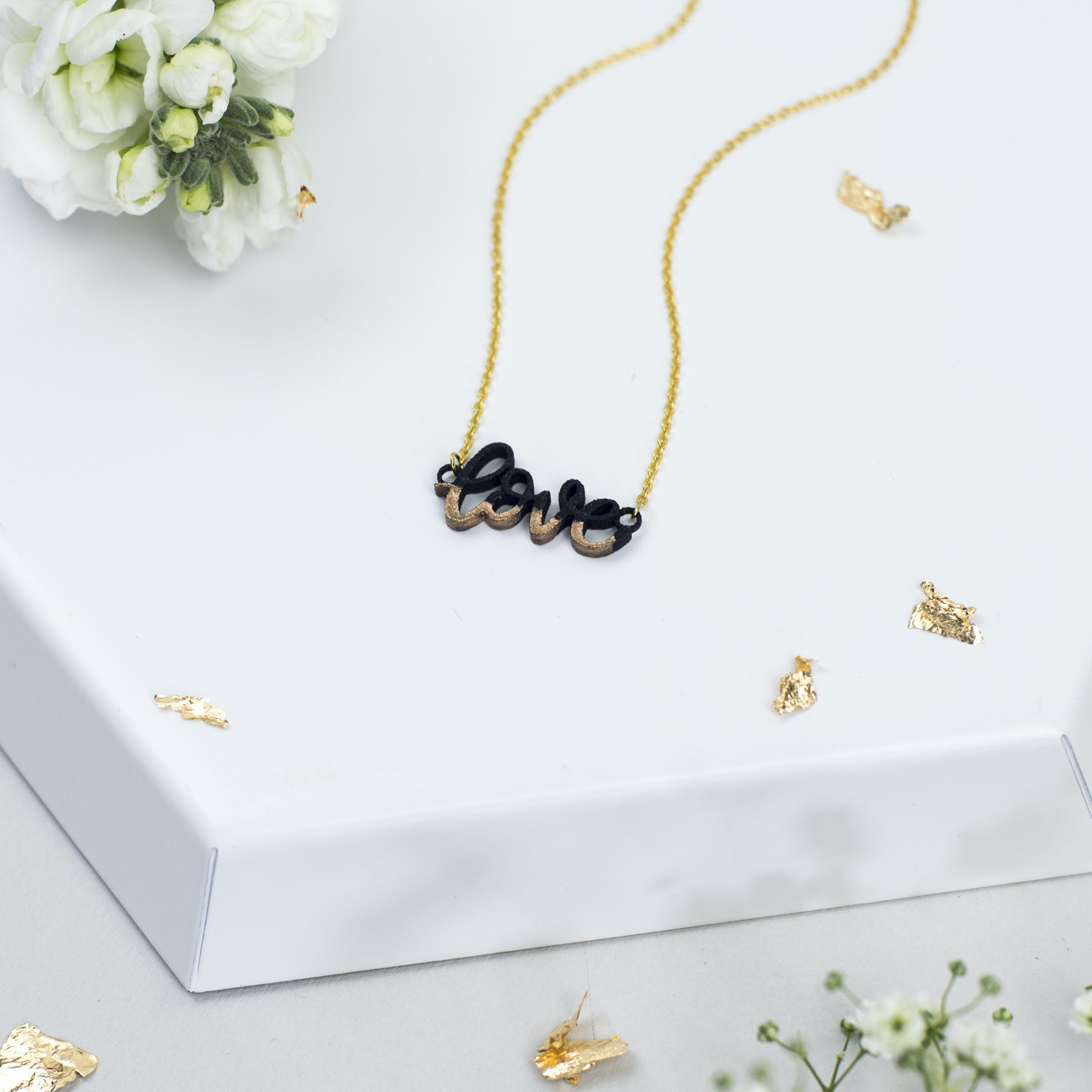 Love Necklace - Gold-Dipped - Gold-Plated - Izzy and Pop - Bloom Jewellery