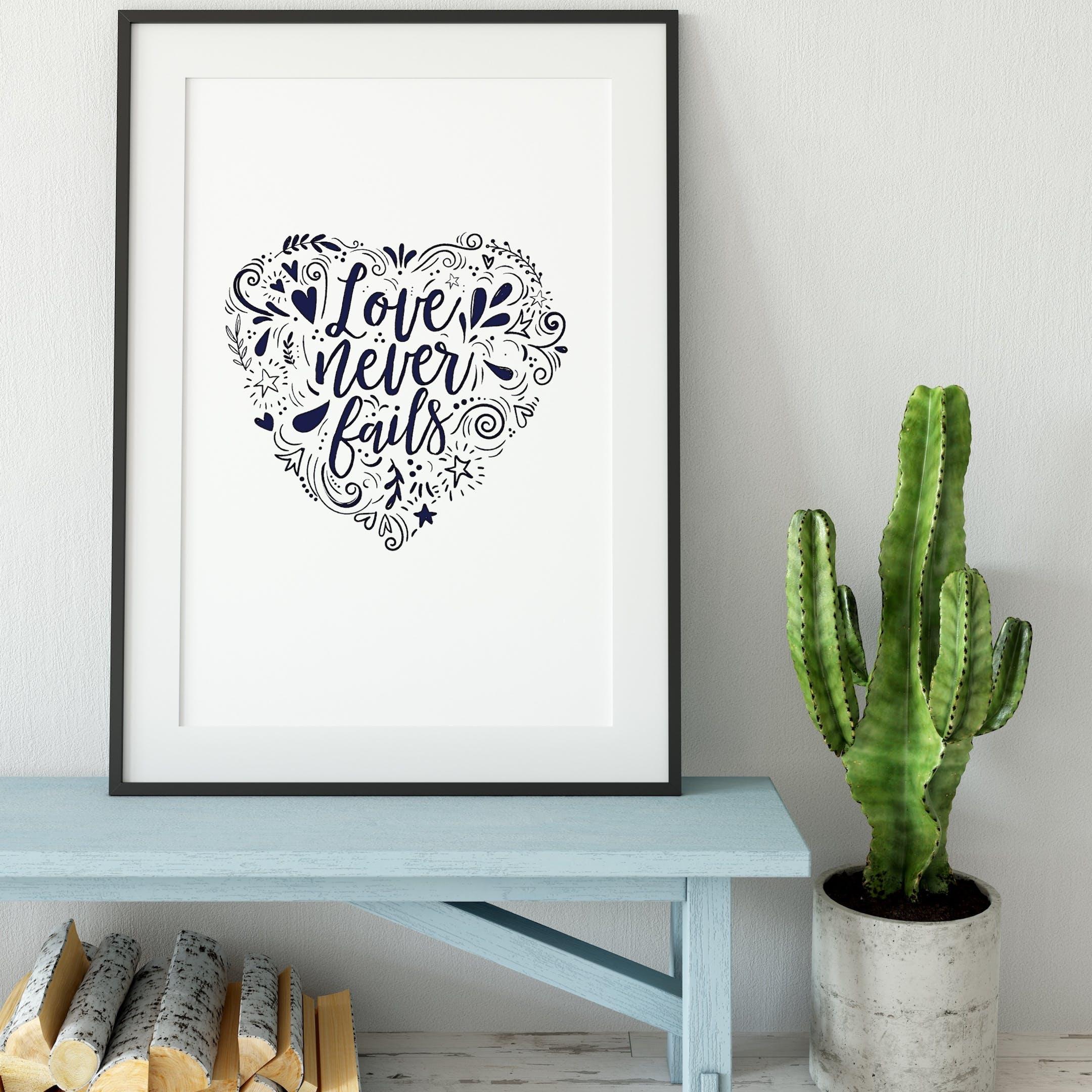 Love Never Fails Print - 1 Corinthians 13 - Izzy and Pop