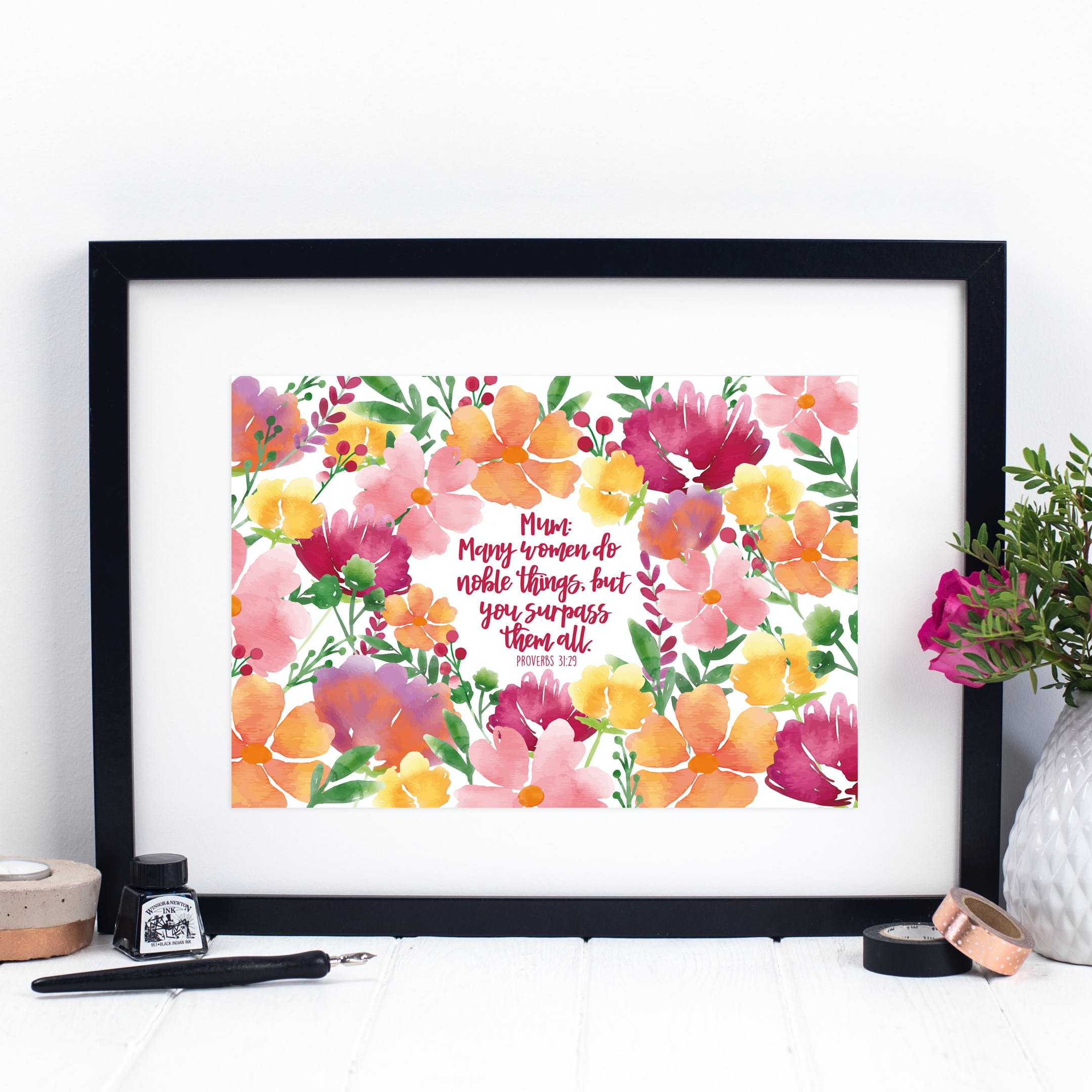 Many Women Do Noble Things Print - Proverbs 31:29 - Izzy and Pop