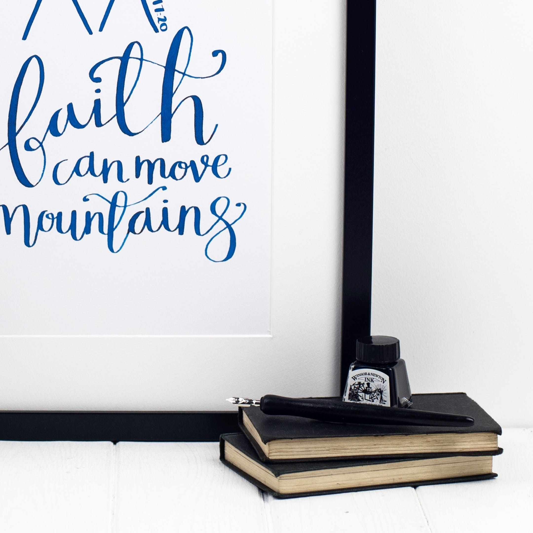 Matthew 17:20 Print - Faith Can Move Mountains - Izzy and Pop