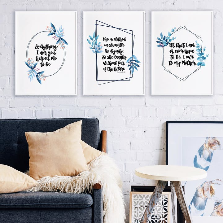 Mother's Inspirational Print Collection - Izzy and Pop