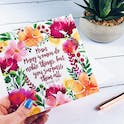 Mum Many Women Do Noble Things But You Surpass Them All Floral Card - Proverbs 31:29 - Izzy and Pop