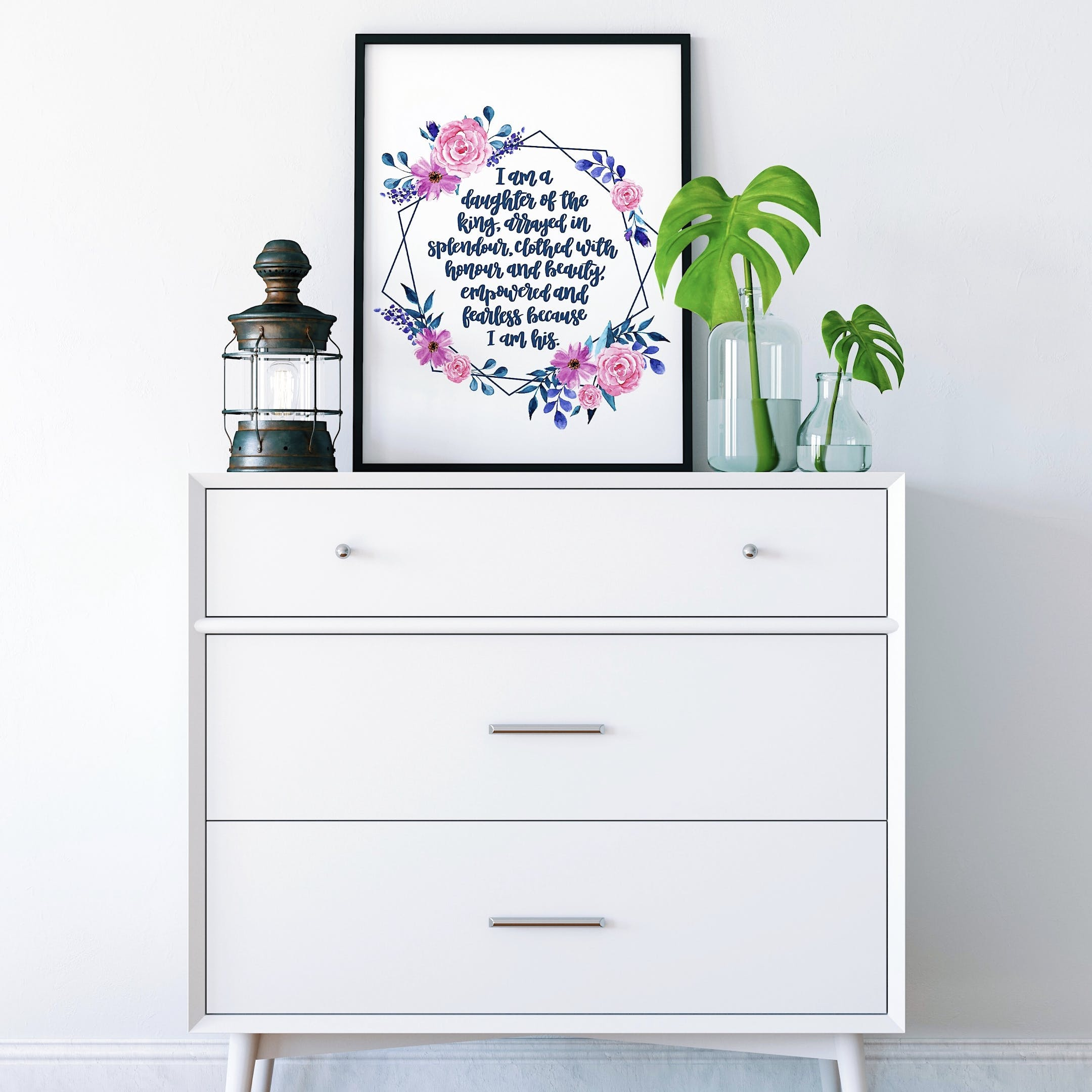 Personalised Floral Print - I Am A Daughter - Izzy and Pop