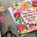 Proverbs 31:29 Floral Card - Izzy and Pop