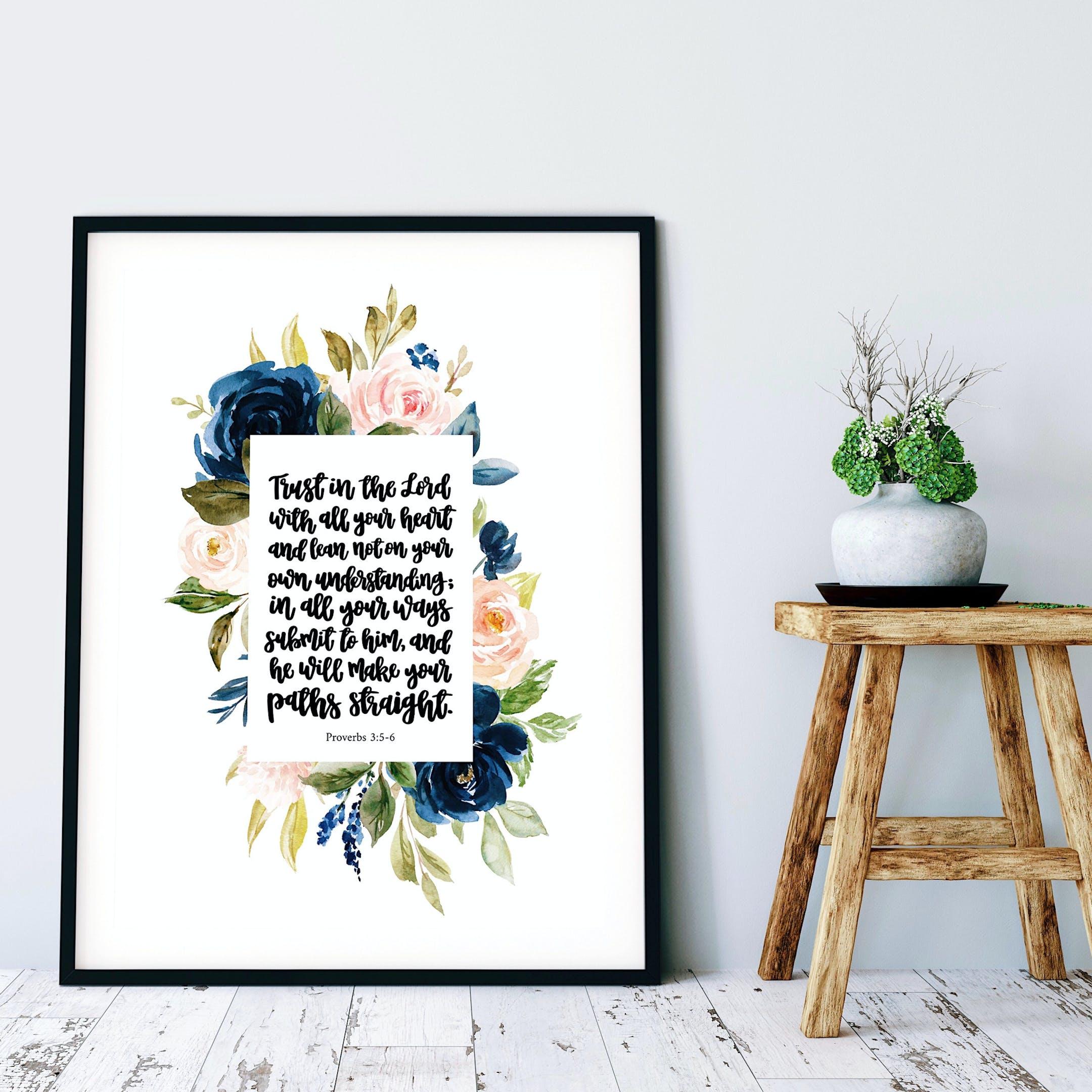 Proverbs 3:5-6 Floral Print - Izzy & Pop