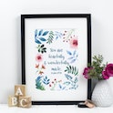 Psalm 139:14 Print - You Are Fearfully & Wonderfully Made - Izzy and Pop