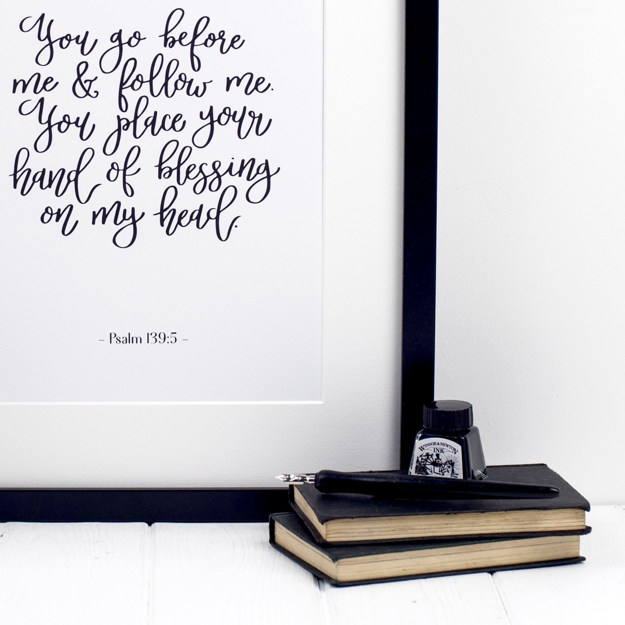 Psalm 139:5 Print - You Go Before Me - Izzy and Pop