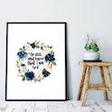 Psalm 46:10 Floral Print - Izzy & Pop