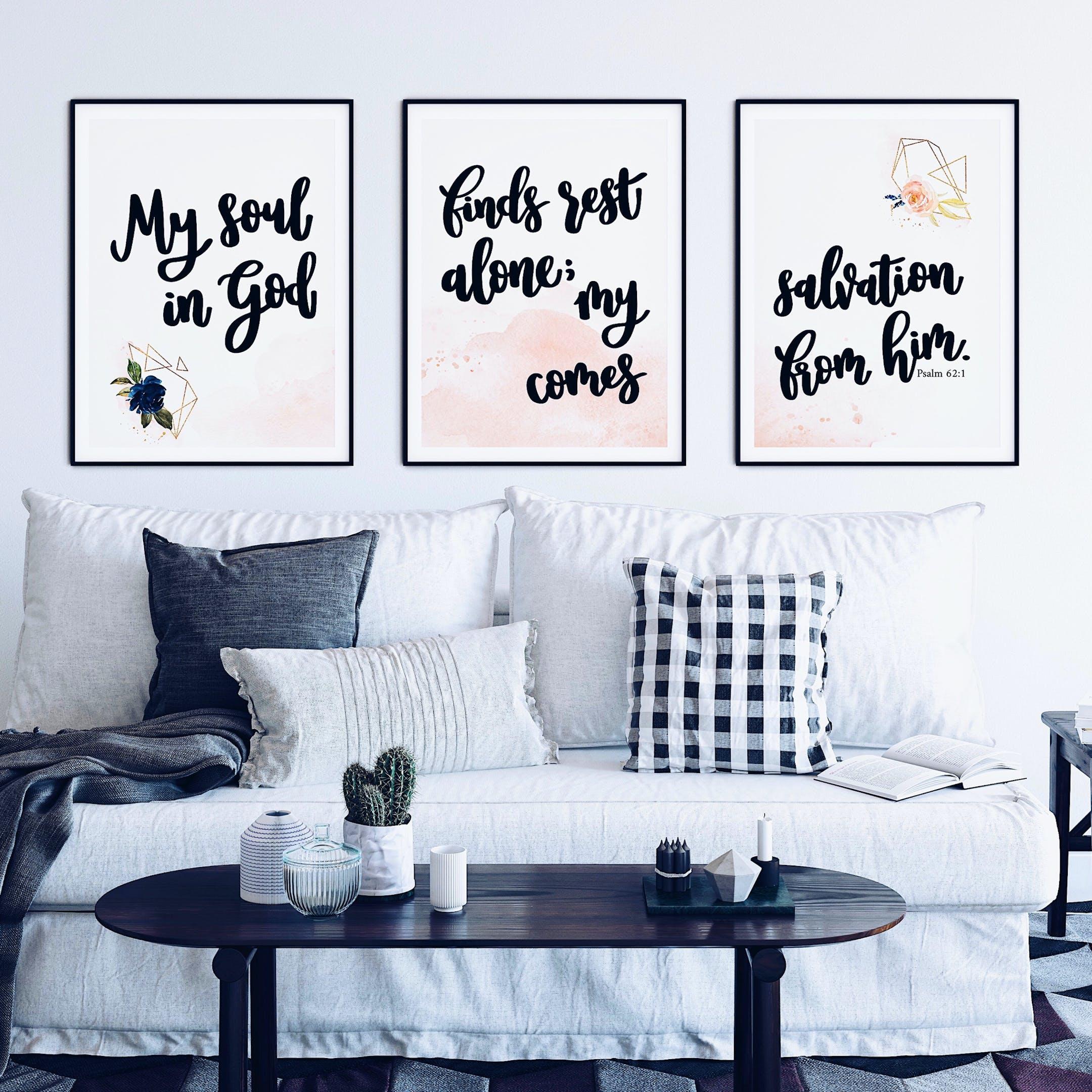 Psalm 62:1 Print - Set of 3 - Izzy & Pop