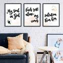 Psalm 62:1 Print - Set of 3 - My Soul Finds Rest, My Salvation Comes From Him - Izzy & Pop