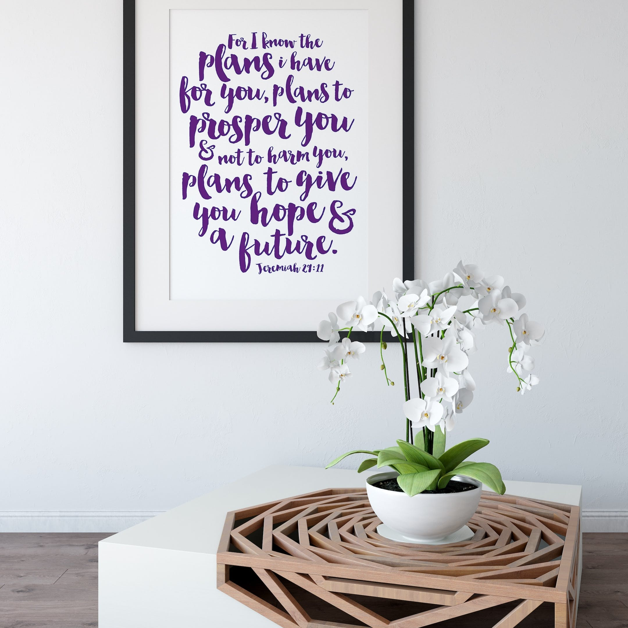 Purple For I Know The Plans I Have For You Print 2 - Jeremiah 29:11 - Izzy and Pop