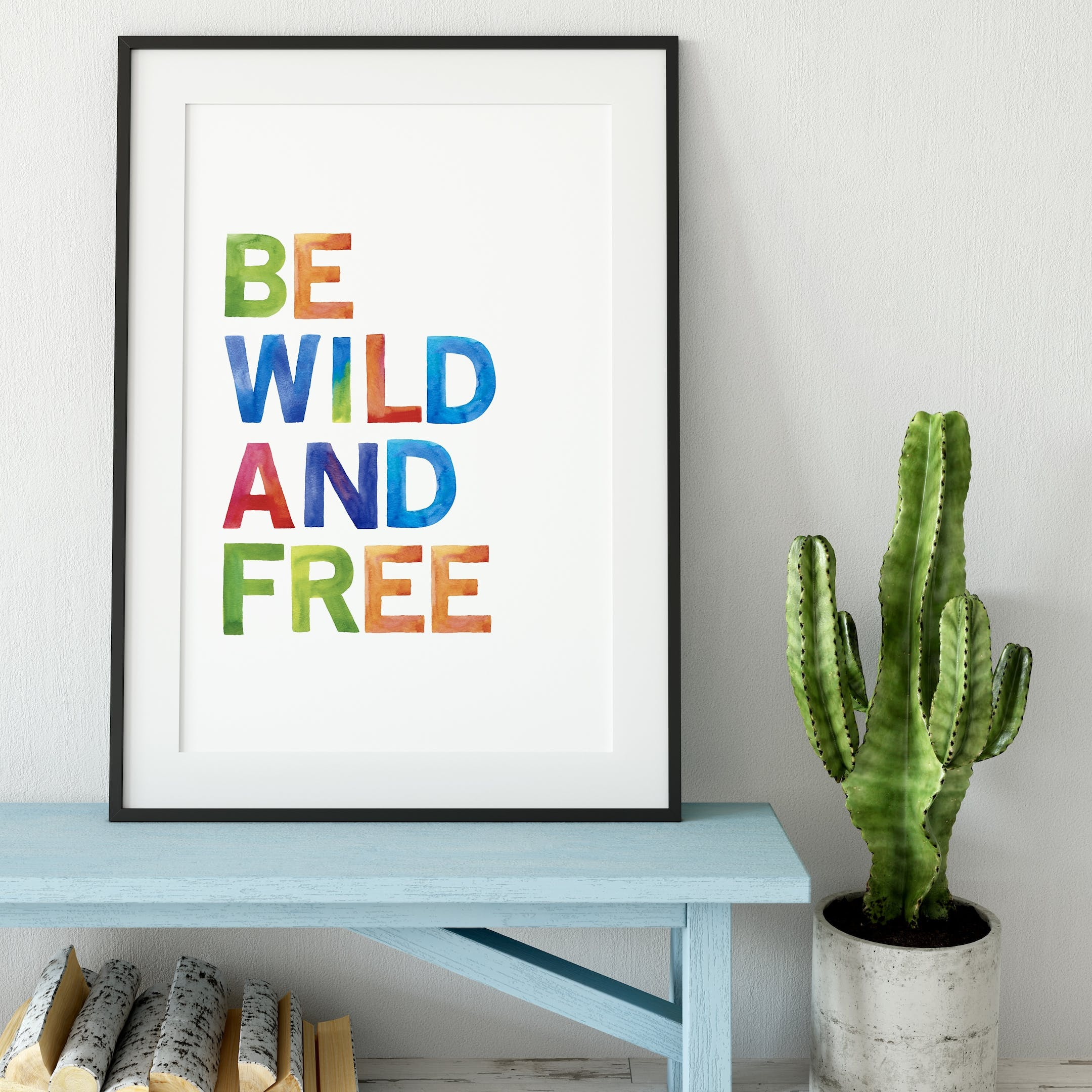 Rainbow Be Wild and Free Print - Izzy and Pop
