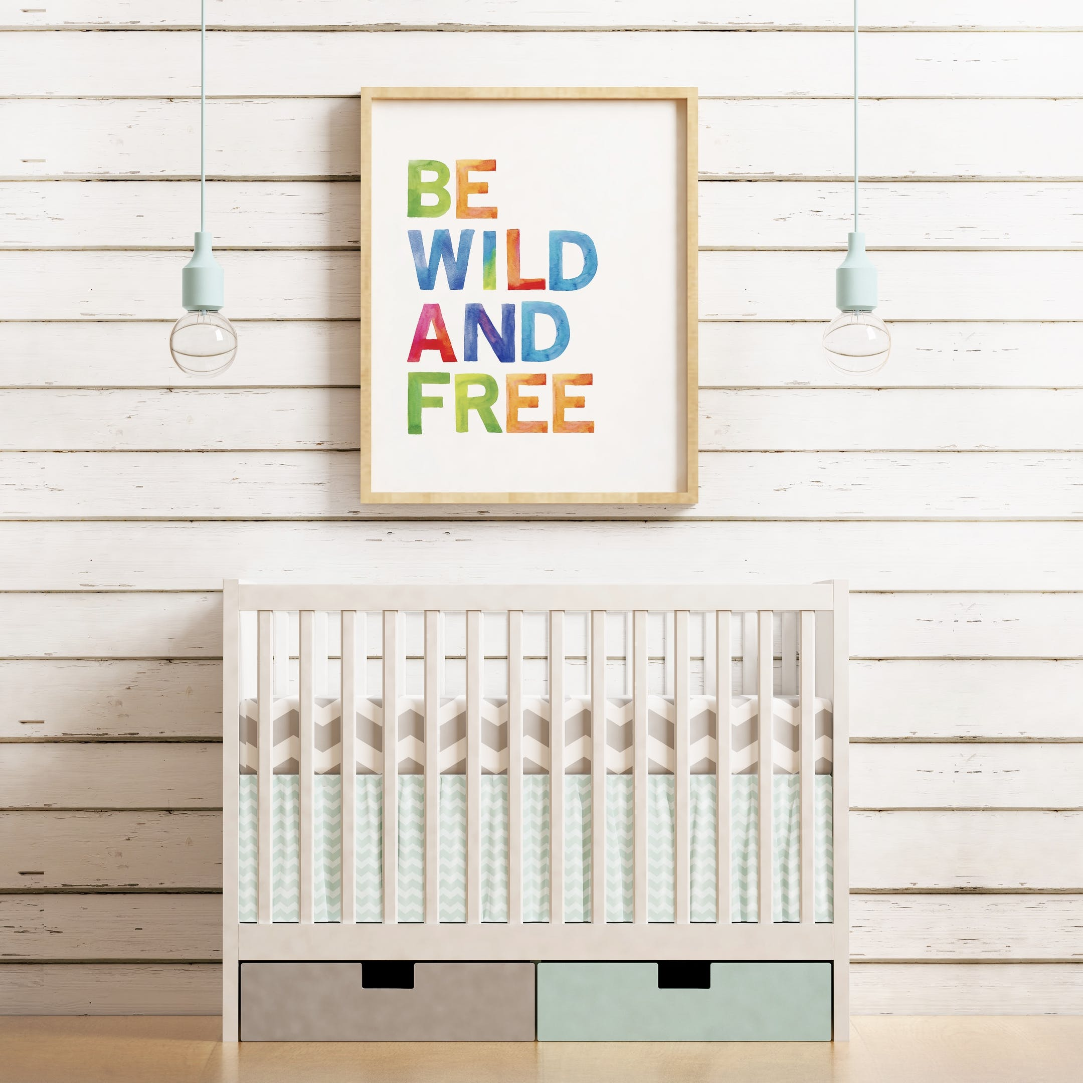 Rainbow Print Be Wild and Free - Izzy and Pop