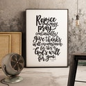 Rejoice Always Print - 1 Thessalonians 5:6-8a - Izzy and Pop