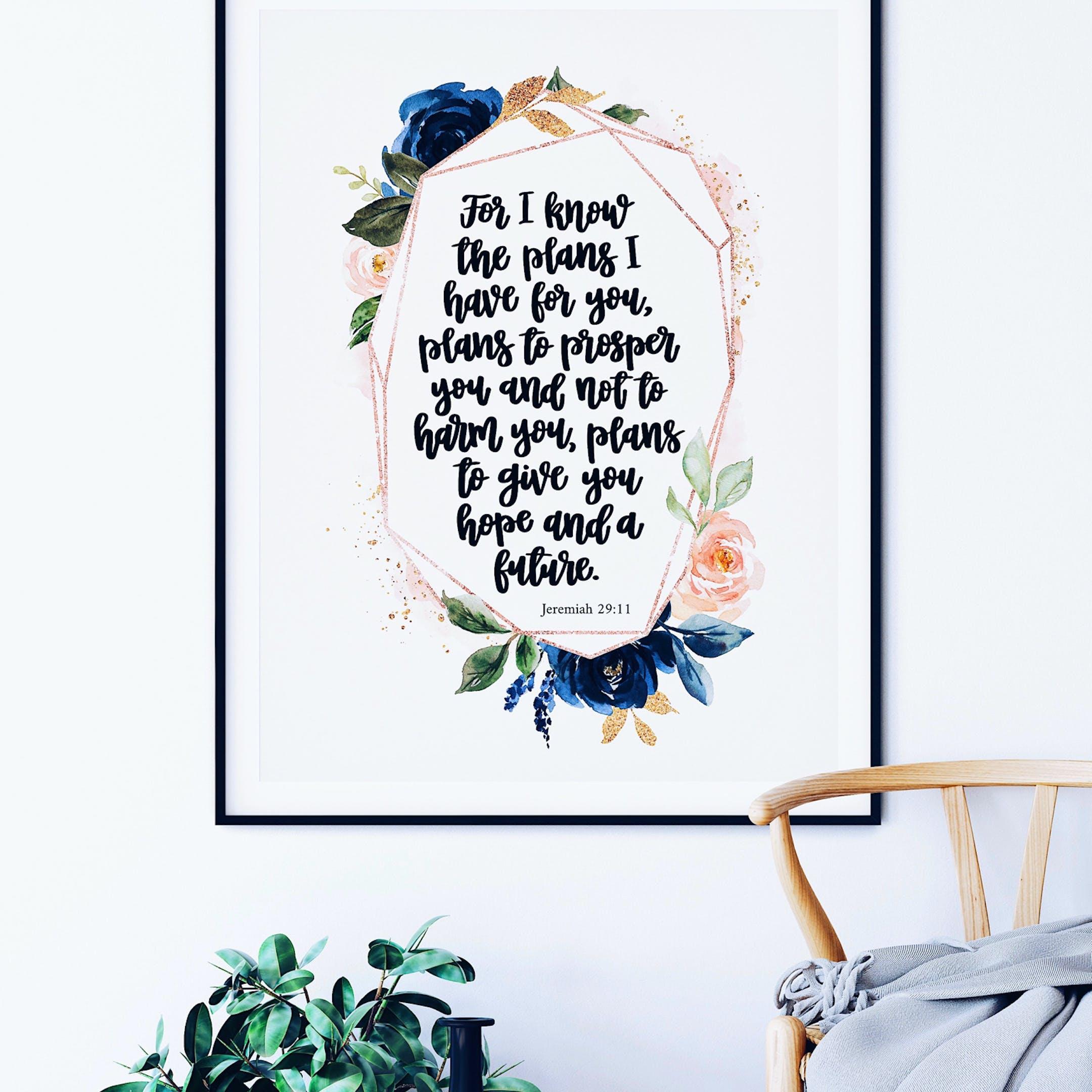 Rose Gold Jeremiah 29:11 Print - Izzy & Pop
