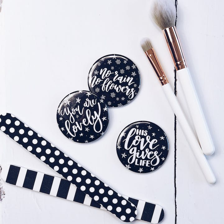 Set of 3 Encouraging Pocket Mirrors - Izzy and Pop