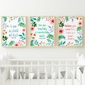 Set of 3 Nursery Bible Verse Prints - Izzy and Pop