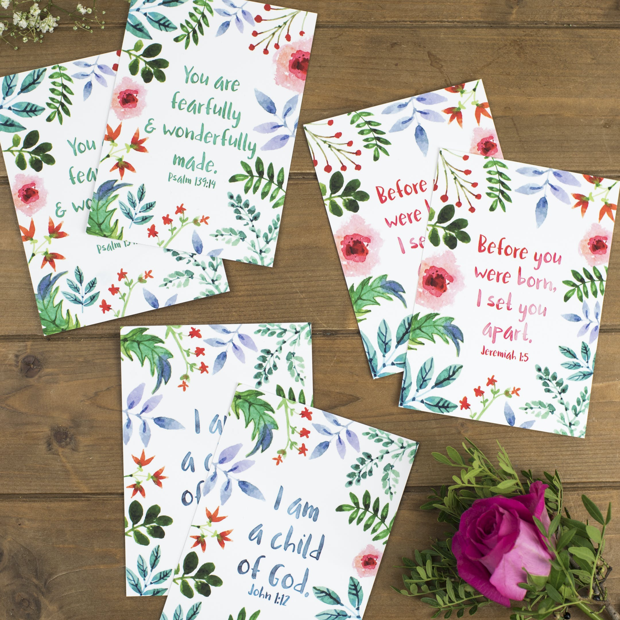 Set of 6 Encouragement Postcards - Izzy and Pop