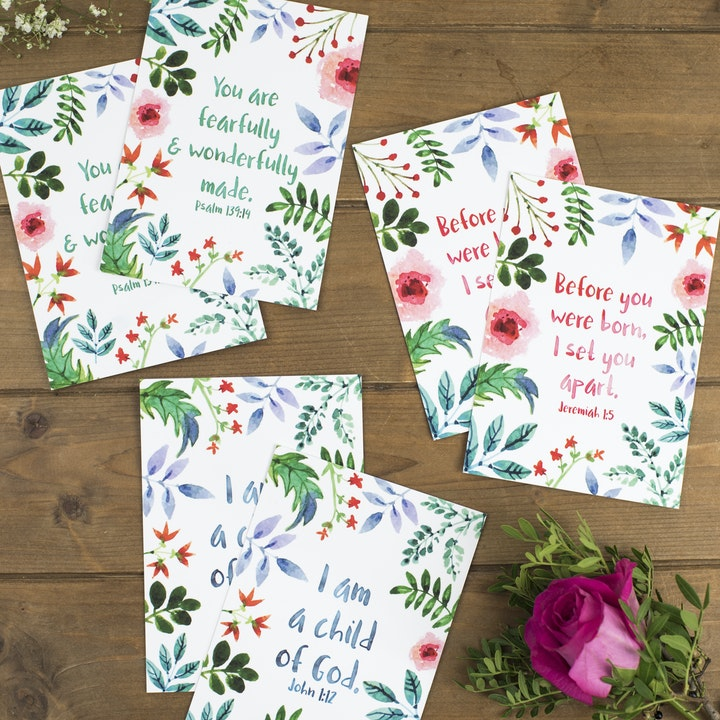 Set of 6 Encouragement Postcards - Izzy and Pop