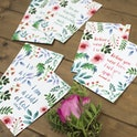 Set of 6 Floral Encouragement Postcards - Izzy and Pop