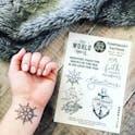 Ship's Wheel Faith Temporary Tattoos - Izzy and Pop