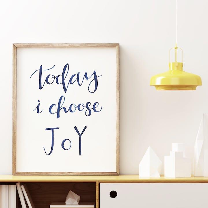 Today I Choose Joy Print - Izzy and Pop