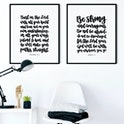 Trust In The Lord & Be Strong And Courageous Print Set - Choose Your Colours! - Izzy & Pop