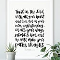 Trust In The Lord Calligraphy Print - Proverbs 3:5-6 - Izzy & Pop