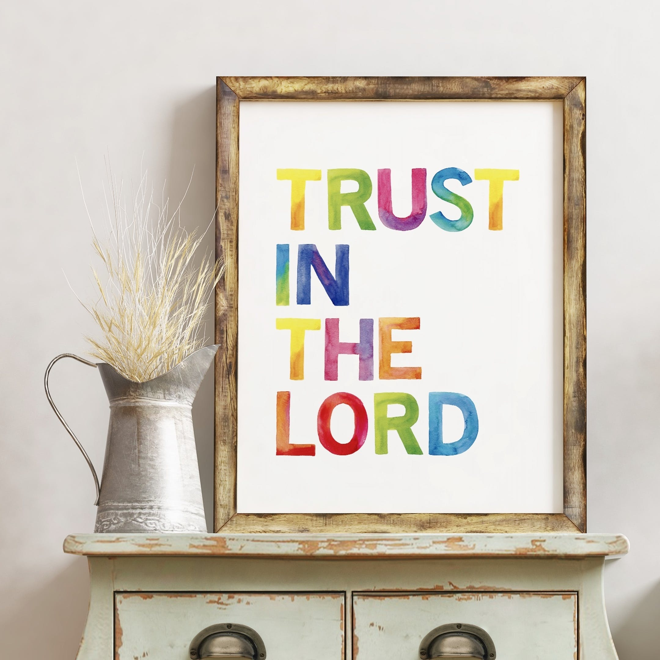 Trust in the Lord Rainbow Print - Izzy and Pop
