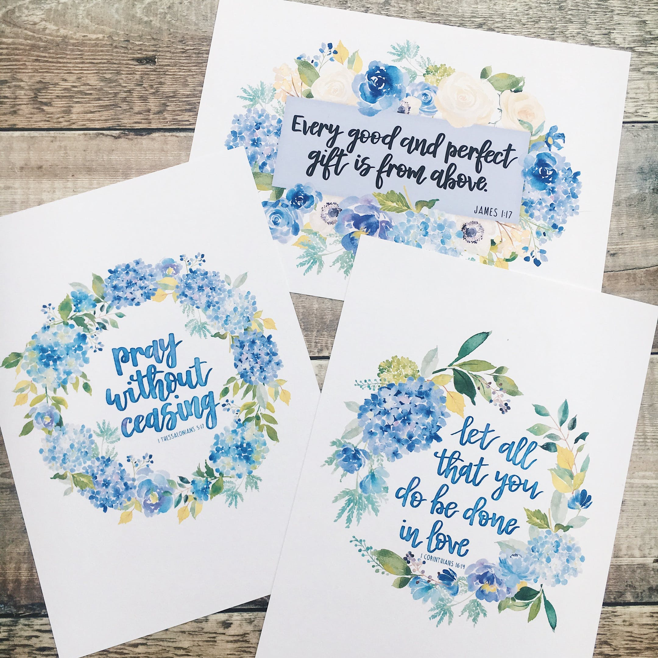 Watercolour Bible Verses Print - Izzy and Pop