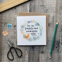 You Are Fearfully & Wonderfully Made Luxury Square Card - Izzy and Pop