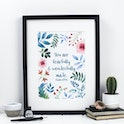 You Are Fearfully & Wonderfully Made Print - Psalm 139:14 - Izzy and Pop