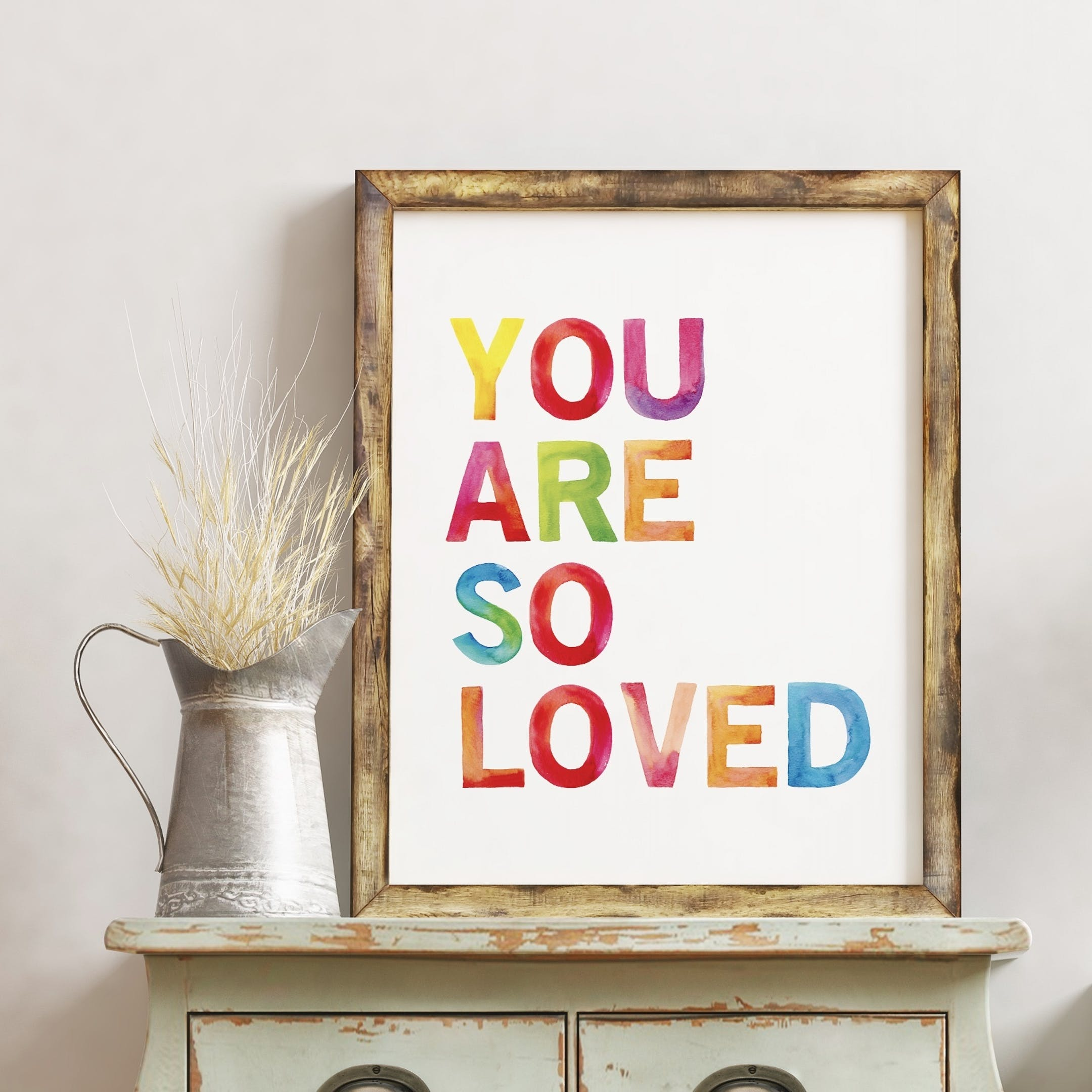 You Are So Loved Rainbow Print - Izzy and Pop