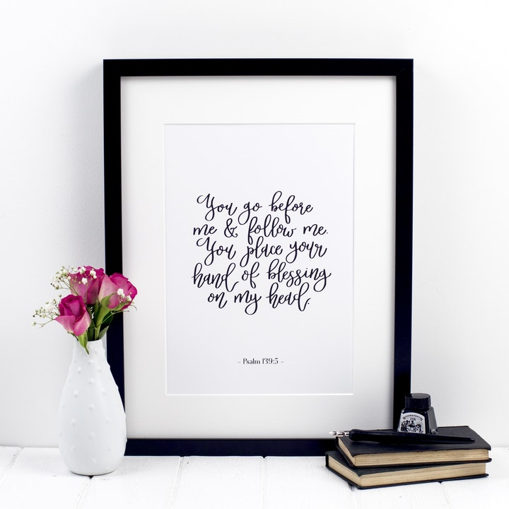You Go Before Me Print - Psalm 139:5 - Izzy and Pop