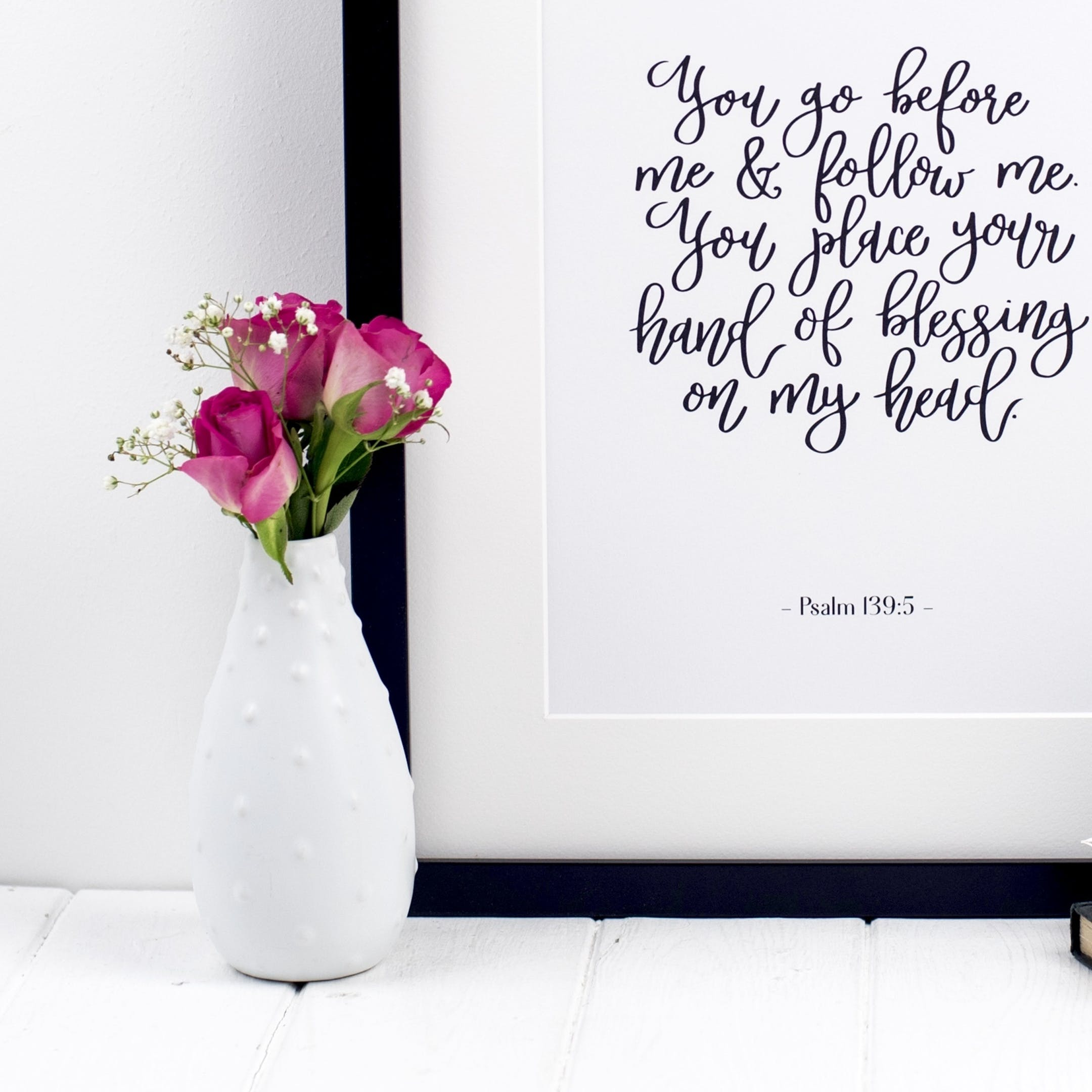 You Go Before Me - Psalm 139:5 Print - Izzy and Pop