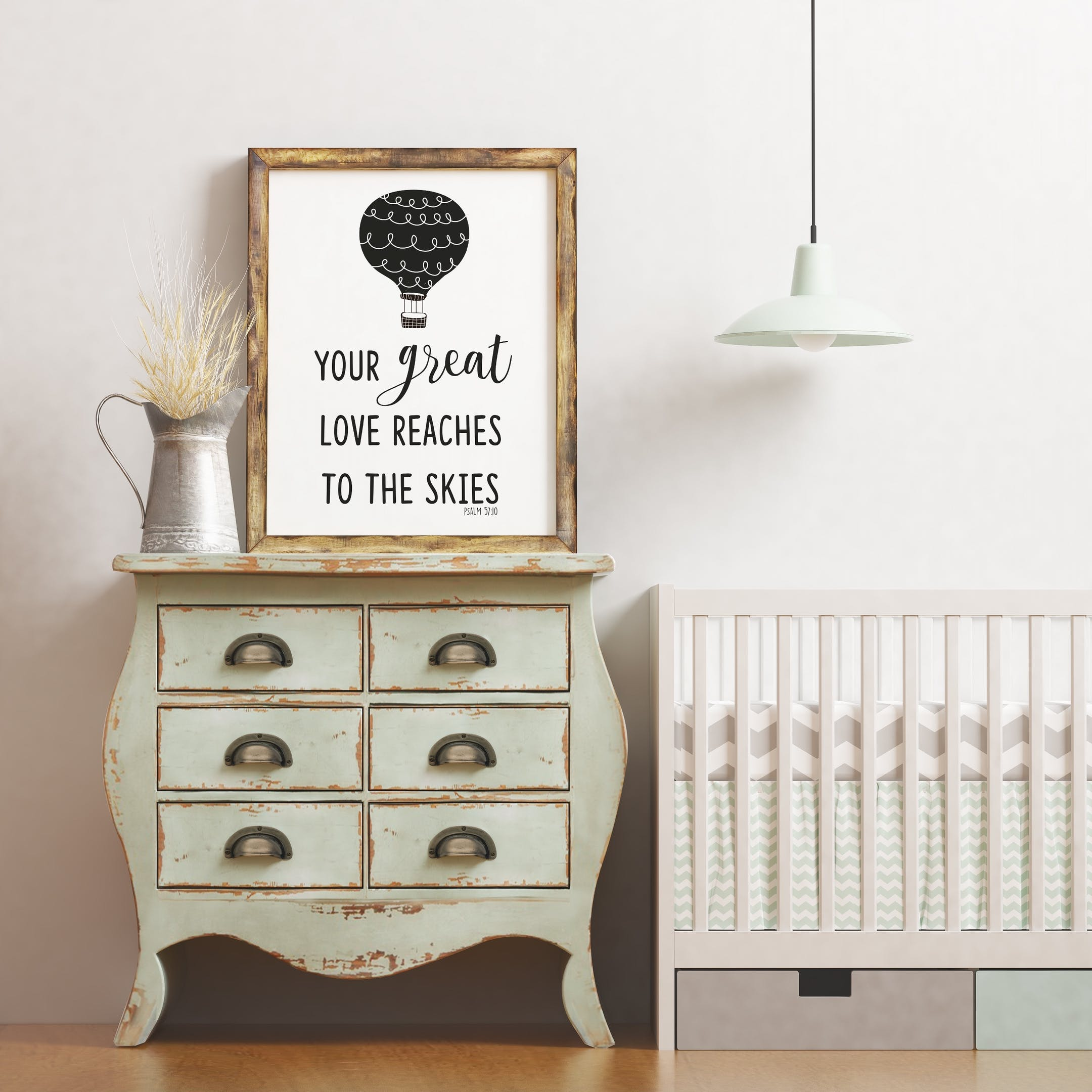 Your Great Love Reaches To The Skies - Psalm 57:10 Print - Izzy and Pop