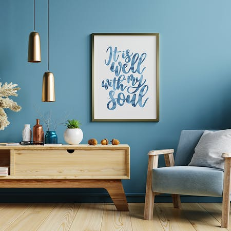 It is well with my soul Christian Art Print  by Izzy & Pop at Cheerfully Given
