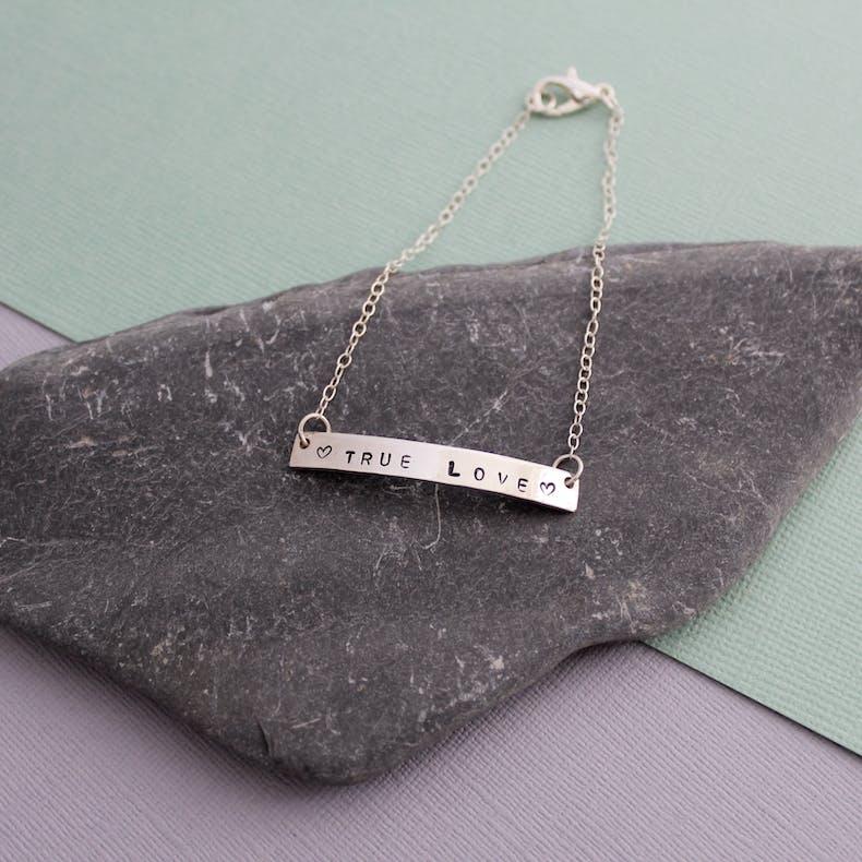 Custom Bar Bracelet | Jordan Lily Designs | Cheerfully Given