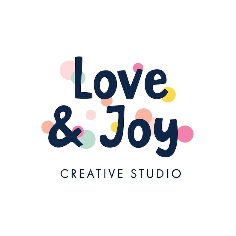 Love and Joy Creative Studio Logo at Cheerfully Given