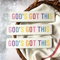 God's Got This Colourful Christian Decor UK | Made by Little Stag Signs | Cheerfully Given - Christian Gifts UK