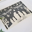 Personalised Papercut Art | The Bear Family | MLK + HNY | Cheerfully Given