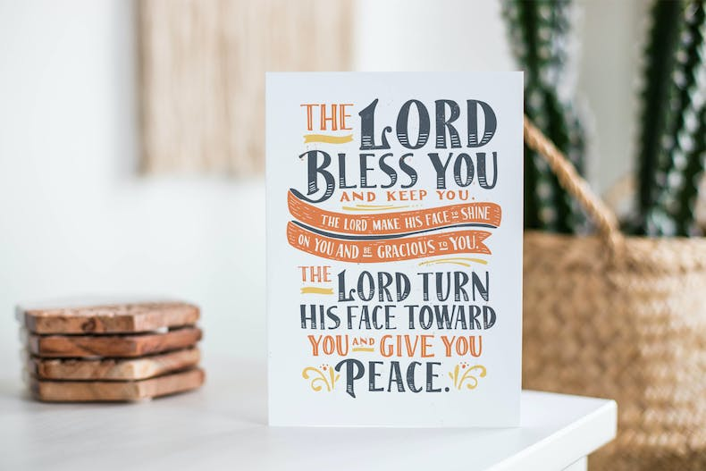Numbers 6:24-26 Scripture Card | Laurent Collective | Cheerfully Given - Christian Cards UK