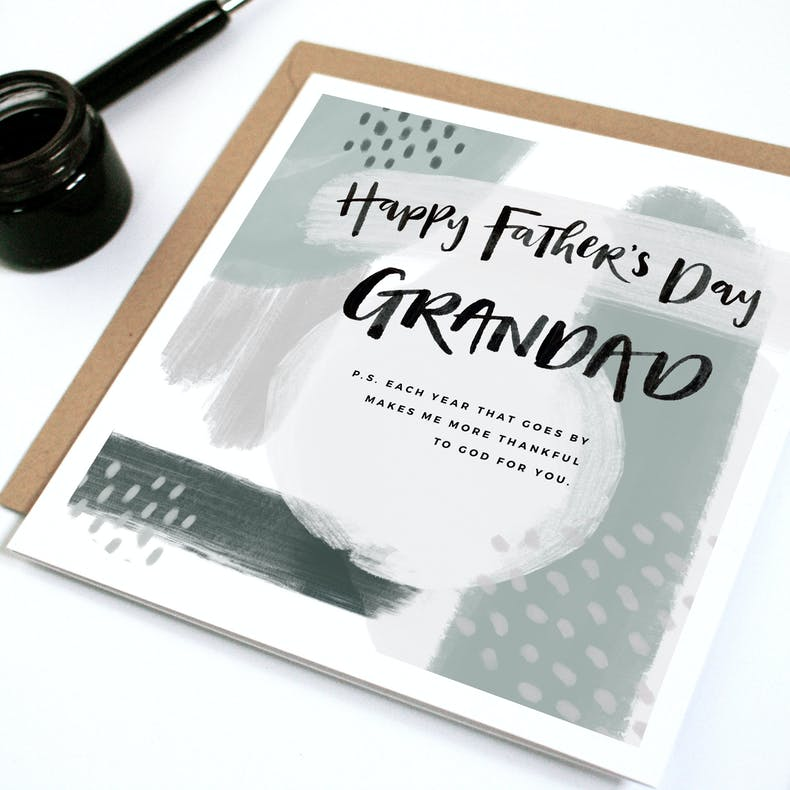 Father's Day cards for Grandads by Naptime Illustration at Cheerfully Given