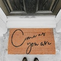 Brown 100% coir Come as you are Christian doormat by Scripture Bella