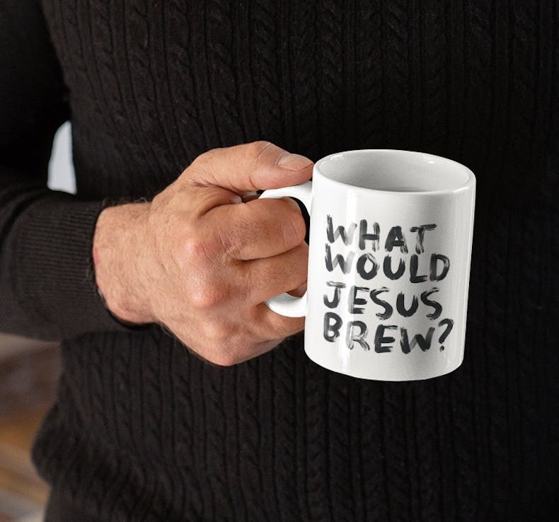 What would Jesus brew Christian Mugs by Scripture Bella | Cheerfully Given - Christian Gifts UK