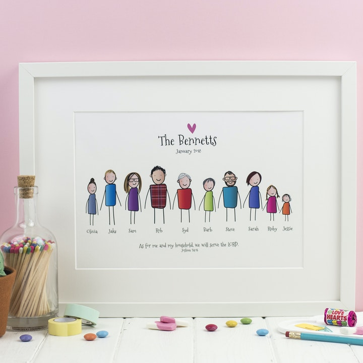 Personalised Family Prints | Christian Prints | The Happy Snail Company | Cheerfully Given