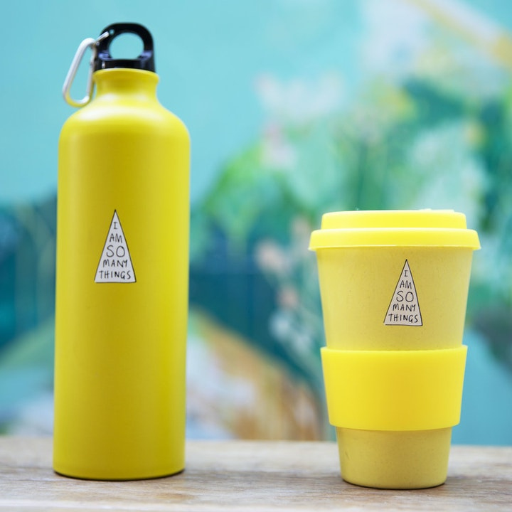 Bamboo Cup & Reusable Water Bottle - I Am So Many Things - SMT
